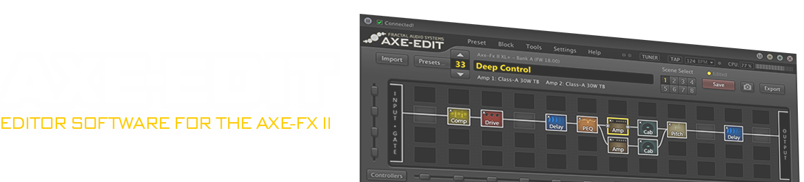 Axe-Edit: Editor Software for the Axe-FX II